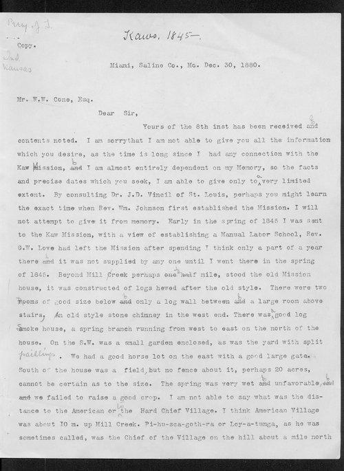 John Thompson Peery to W.W. Cone - Page