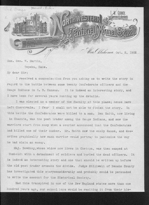 E.A. Herod to George W. Martin - Page
