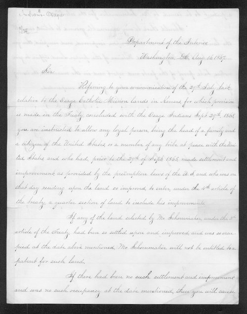 Orville Hickman Browning to the Commissioner of the General Land Office - Page