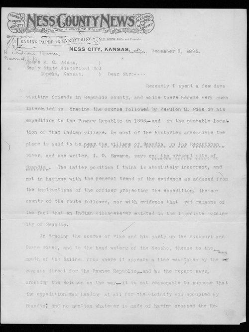 J.K. Barnd to Franklin G. Adams - Page