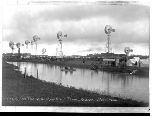 Windmill display at the fair, Finney County, Kansas - Page