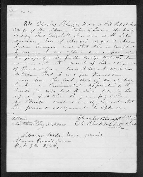 Land warrant correspondence - Page