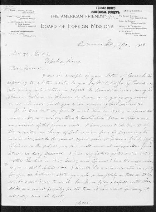Mahalah Jay to George W. Martin - Page
