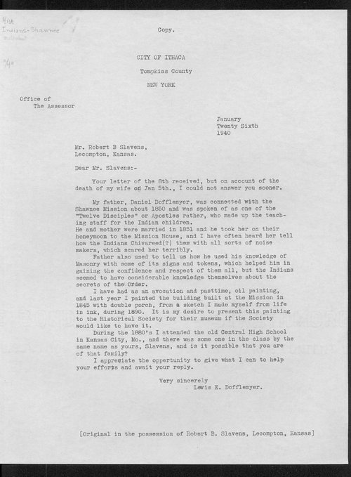 Dofflemyer correspondence - Page
