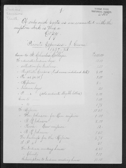 Indian Manual labor school expenses, 1837-1840 - Page