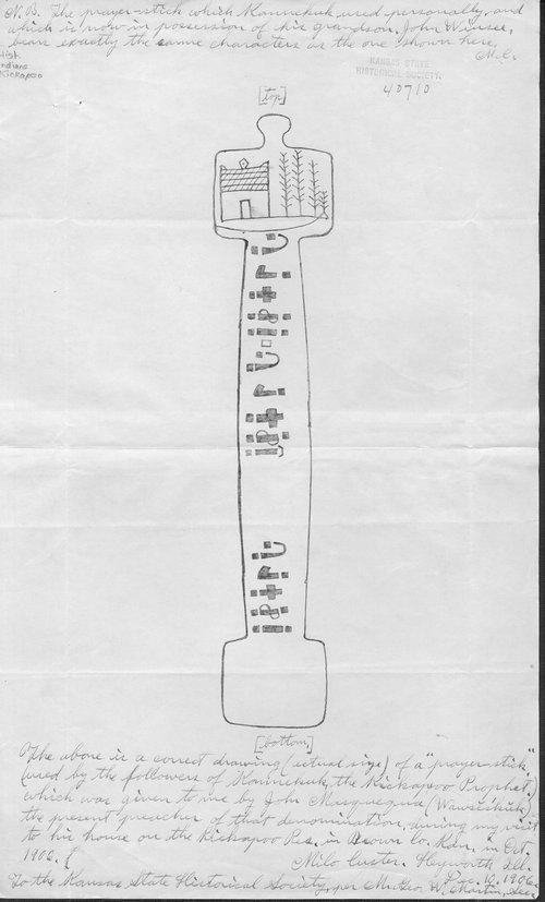 Kennekuk's prayer-stick illustration - Page