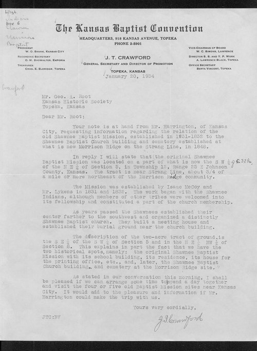 Reverend J.T. Crawford to George A. Root - Page