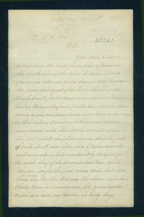 Frederick Chouteau to W.W. Cone correspondence - Page