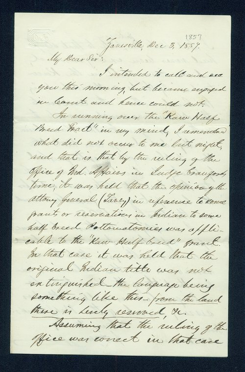 George W. Manypenny to General James William Denver - Page