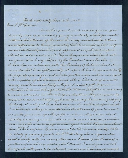 John J. Davies to General James William Denver - Page