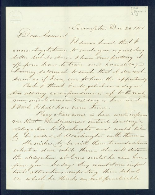 Hugh S. Walsh to General James William Denver - Page