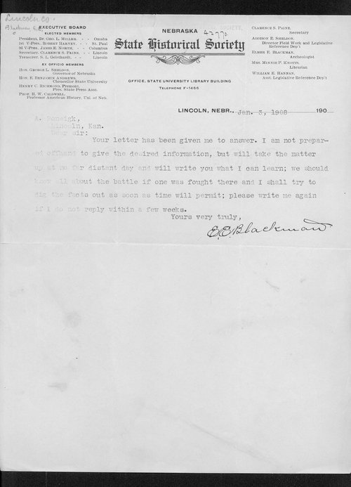 E.E. Blackman to A. Roenigk correspondence - Page