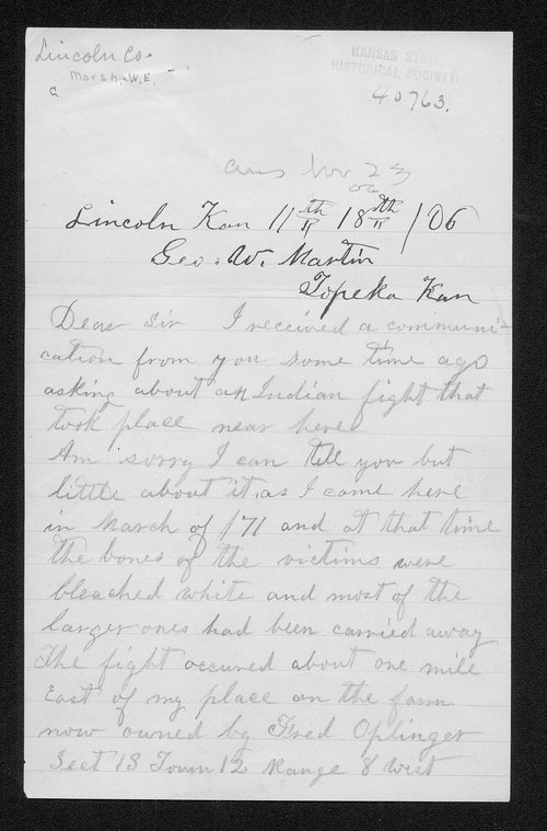 W.E. Marsh to George W. Marsh - Page
