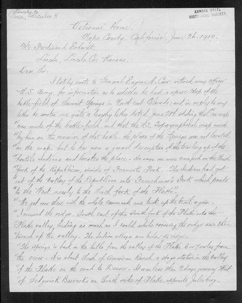 Hercules H. Price to Ferdinand Erhardt - Page
