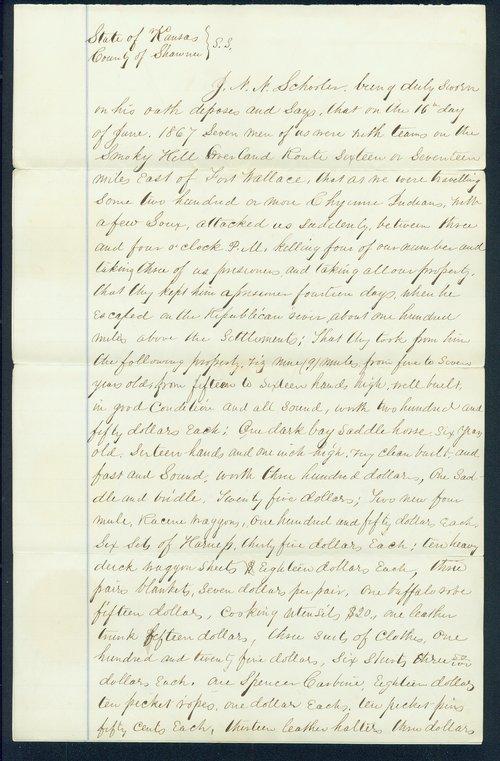 Deposition of J.N.N. Schooler - Page