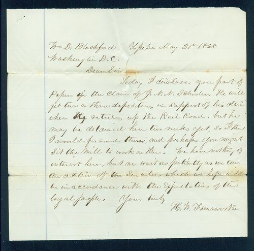 H.W. Farnsworth to William D. Blackford - Page