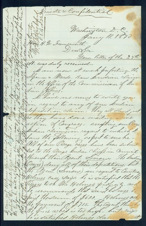 W.D. Blackford to H.W. Farnsworth - Page