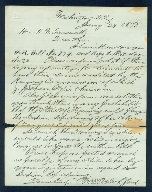 William D. Blackford to H.W. Farnsworth correspondence - Page