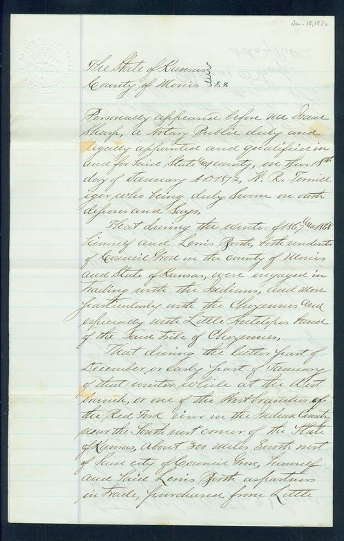 W.R. Terwilliger Indian depredation claim - Page