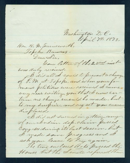 William D. Blackford to H.W. Farnsworth, and H.R. 3873 - Page