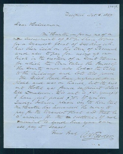 Andrew. H. Reeder to John A. Haldeman - Page