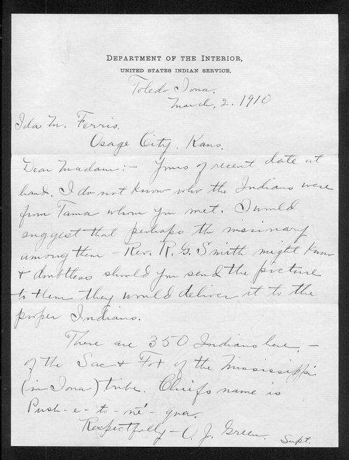 O.J. Green to Ida M. Ferris - Page