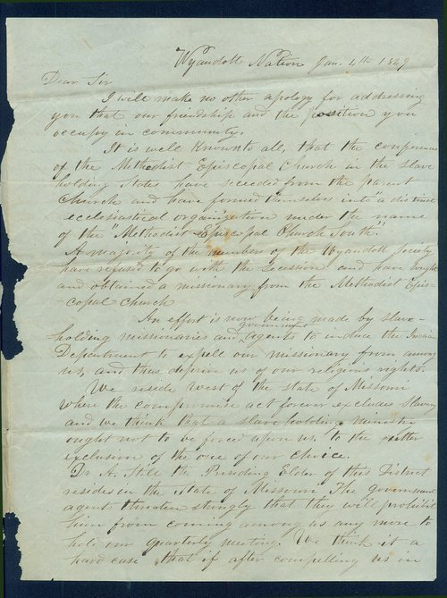 Letter from Lucy B. Armstrong papers - Page