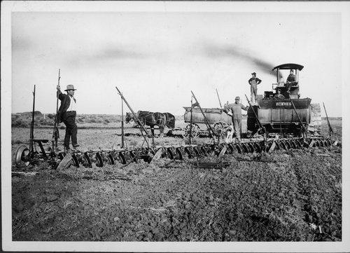Plowing scene in Finney County, Kansas - Page