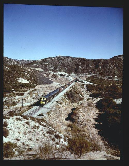 Atchison Topeka & Santa Fe Railway Company freight train, Cajon Pass, San Bernardino, California - Page