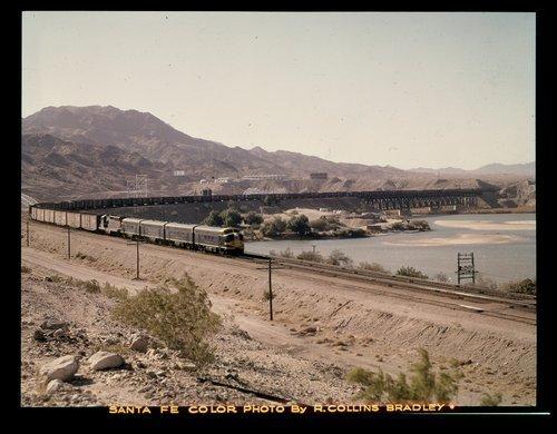 Atchison, Topeka & Santa Fe Railway Company freight train, Topock, Arizona - Page