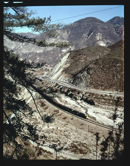 Atchison, Topeka & Santa Fe Railway Company freight train, Cajon Pass, San Bernardino, California - Page