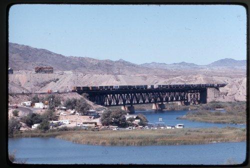 Atchison Topeka & Santa Fe Railway Company train, Topock, Arizona - Page