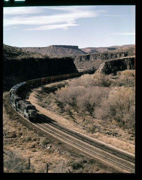 Atchison, Topeka & Santa Fe Railway Company freight train, Crozier Canyon, Arizona - Page