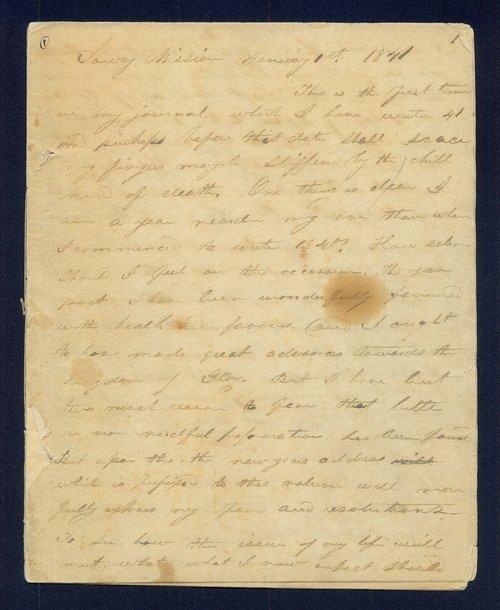 Samuel M. Irvin diary - Page