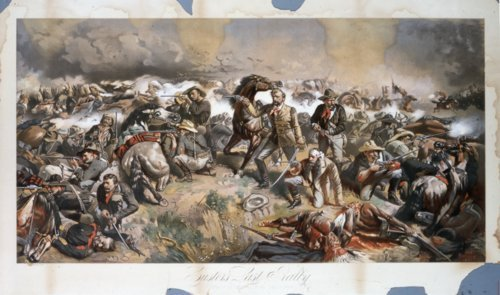 Custer's Last Rally chromolithograph - Page