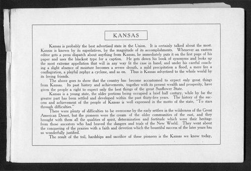 Souvenir of Larned and Pawnee County, Kansas - Page