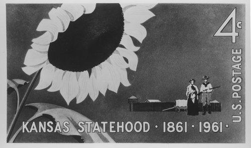 Kansas Centennial postage stamp - Page