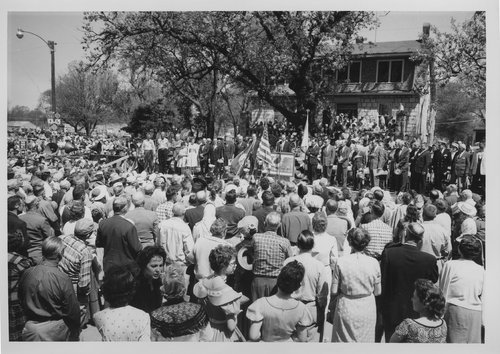 Kansas Centennial commemorative postage stamp ceremony, Council Grove, Kansas - Page