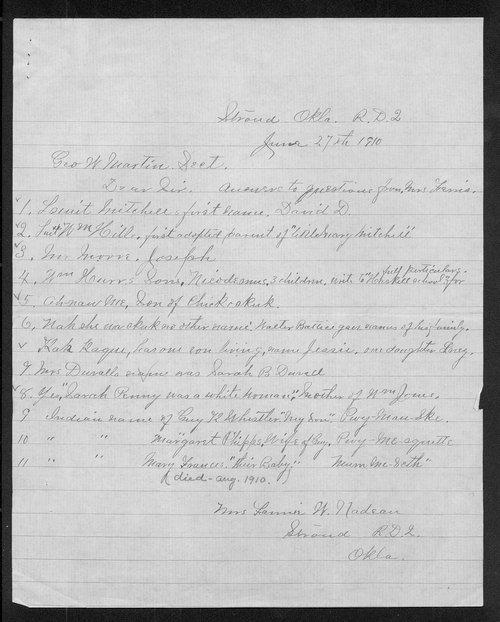 Fannie W. Nadeau to George W. Martin - Page