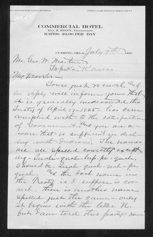Walter Battice to George W. Martin - Page