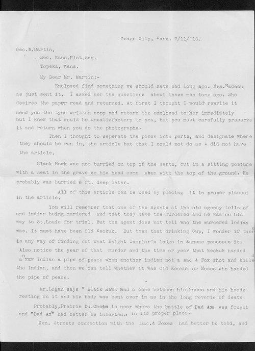 Ida M. Ferris to George W. Martin - Page