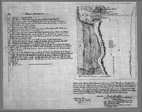 Plan of the battle-field of Summit Springs, Colorado - Page