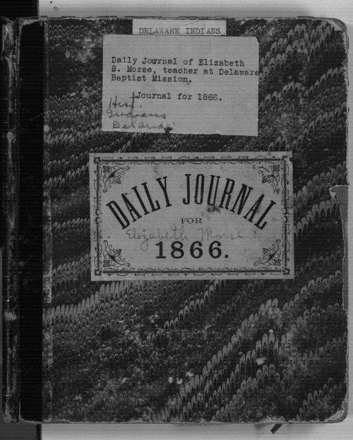 Daily journal of Elisabeth S. Morse, teacher at Delaware Baptist Mission - Page