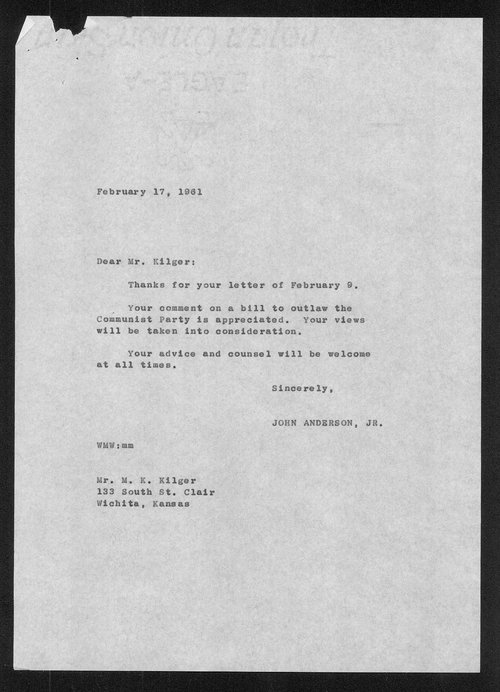Governor John Anderson communism received correspondence - Page