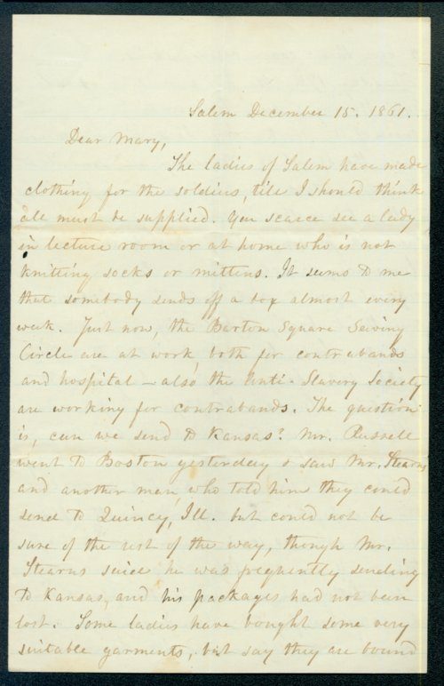 Hannah Russell to Mary Brown - Page
