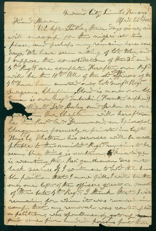 Daniel L. Chandler to John Stillman Brown - Page