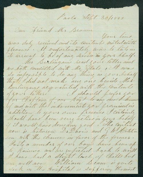 J. Heath to John Stillman Brown