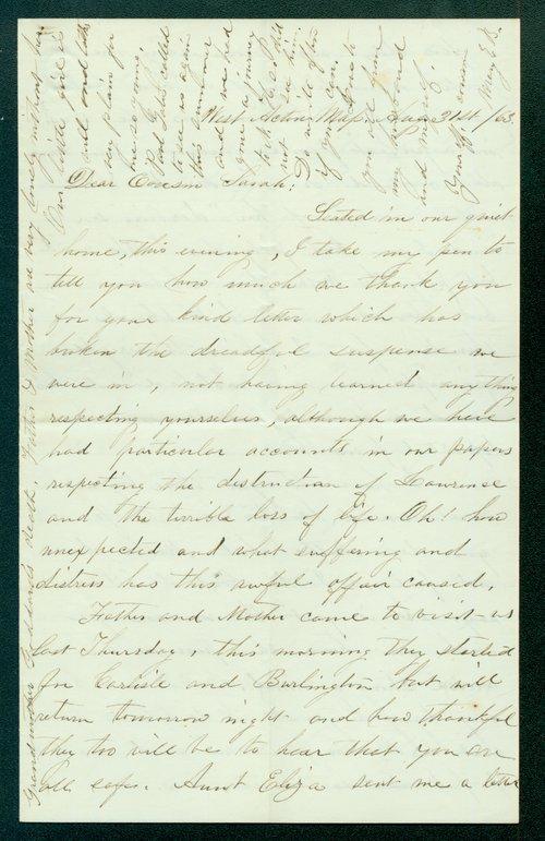 Mary E. B. to Sarah Brown - Page