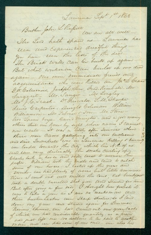 John Stillman Brown to John L. Rupur - Page