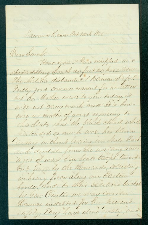 William Brown to Sarah Brown - Page